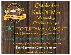 Oktoberfest Kick-Off Mixer @ SIG Property Management  | Glendale | California | United States