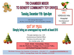 Tri-Chamber Mixer – Toy Drive @ USC Verdugo Hills Hospital | Glendale | California | United States