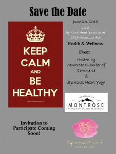 Save the Date! Health & Wellness Event @ Spiritual Heart Yoga Center | Glendale | California | United States