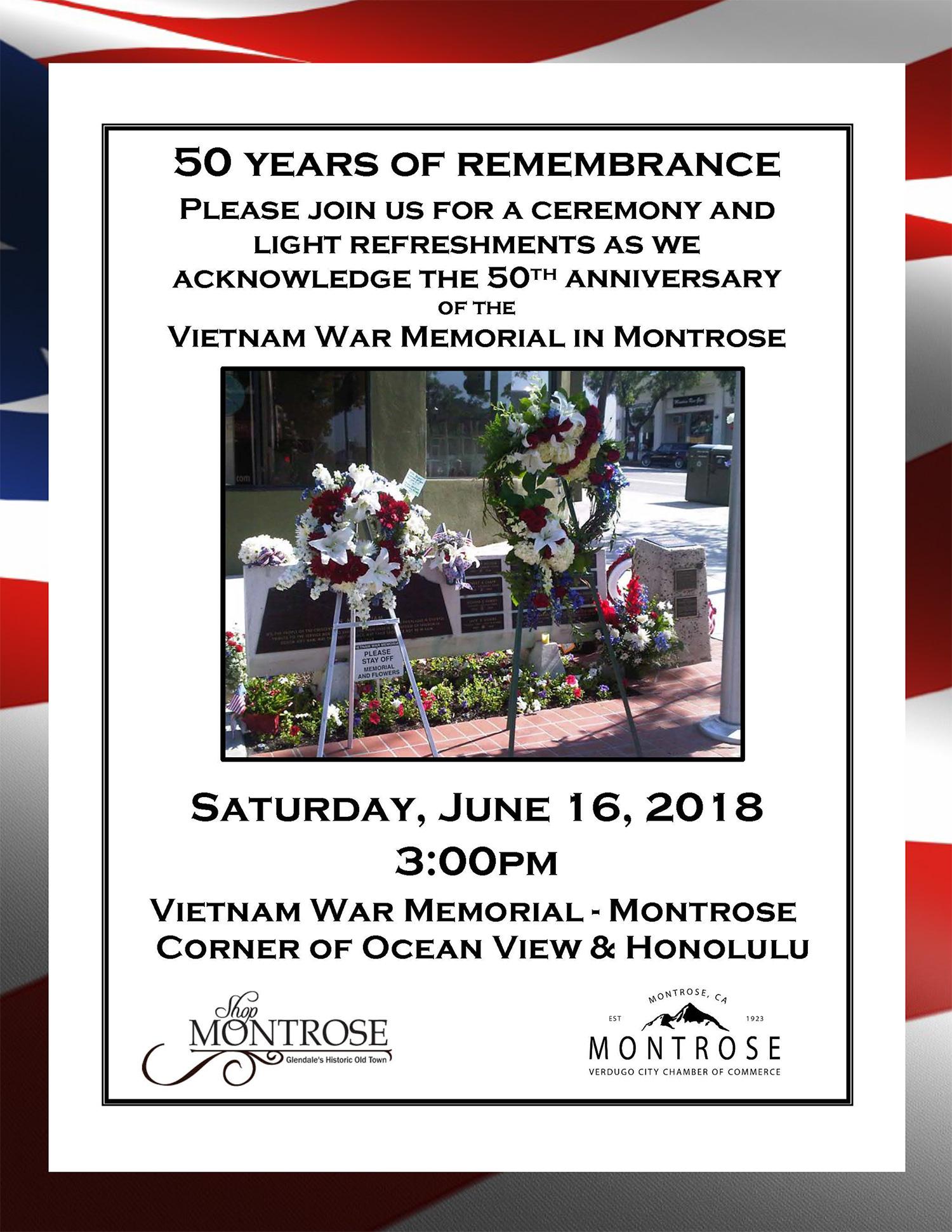 50 Years of Remembrance @ Vietnam War Memorial | Glendale | California | United States