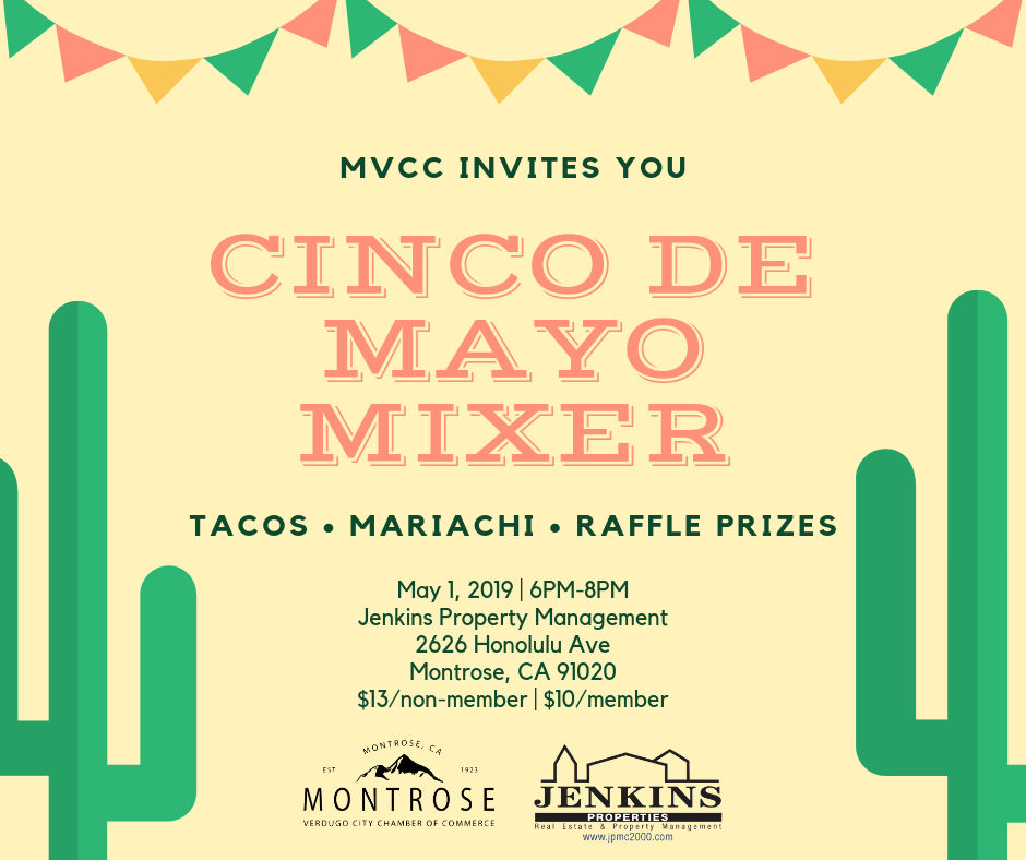 May Mixer - Cinco De Mayo Mixer hosted by Jenkins Properties @ Jenkins Properties | Glendale | California | United States
