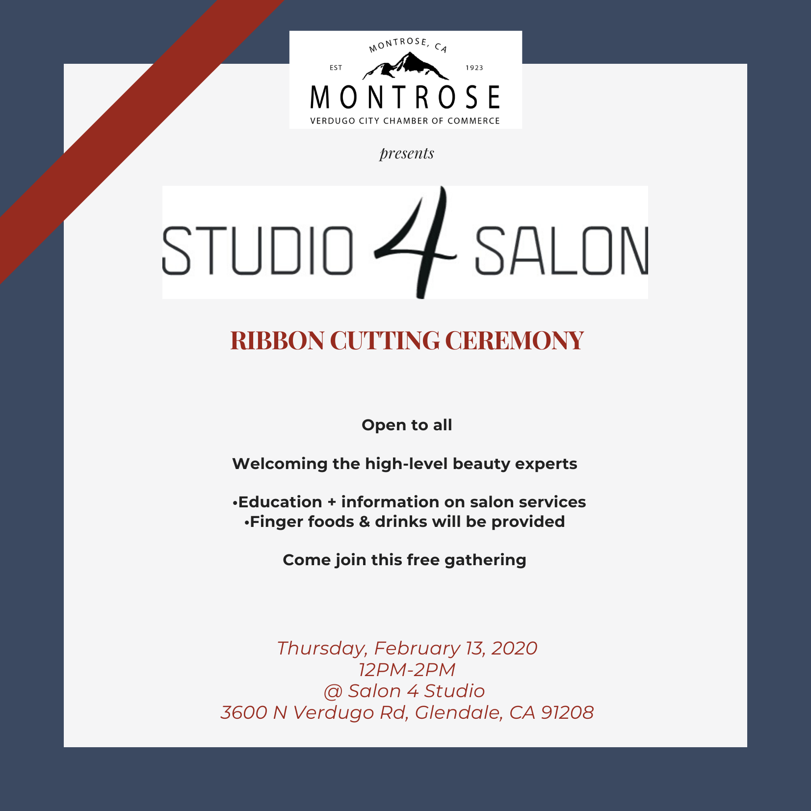 Studio 4 Salon Ribbon Cutting @ Salon 4 Salon | Glendale | California | United States