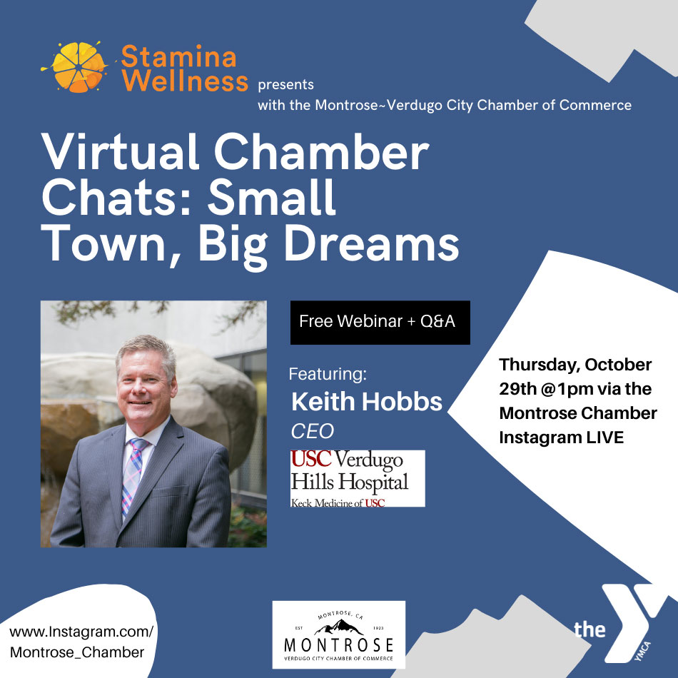 MVCC Chamber Chats: Small Town, Big Dreams @ Instagram LIVE | Glendale | California | United States