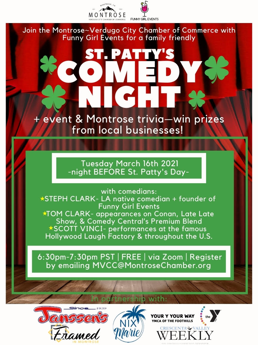 St. Patty's Comedy Night @ zoom