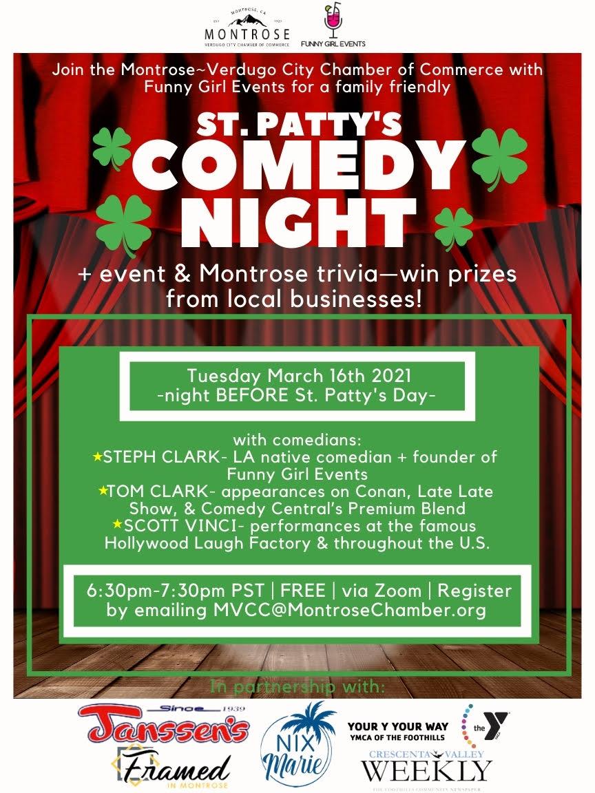 St. Patty's Comedy Night @ zoom